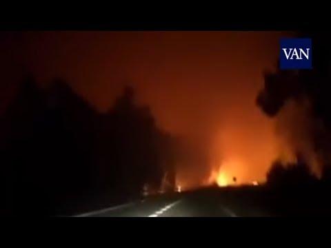 Momento de tensión atrapados en las llamas del incendio de Galicia