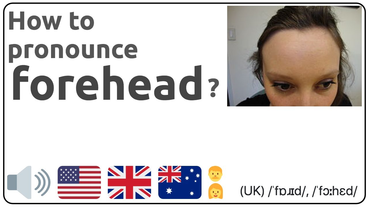 How to pronounce forehead in english?