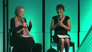 Margaret Atwood & Leah Kostamo at the Green Gala