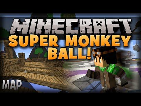 Minecraft: Super Monkey Ball! Jumpless Parkour!? | Super Steve Runner - Map