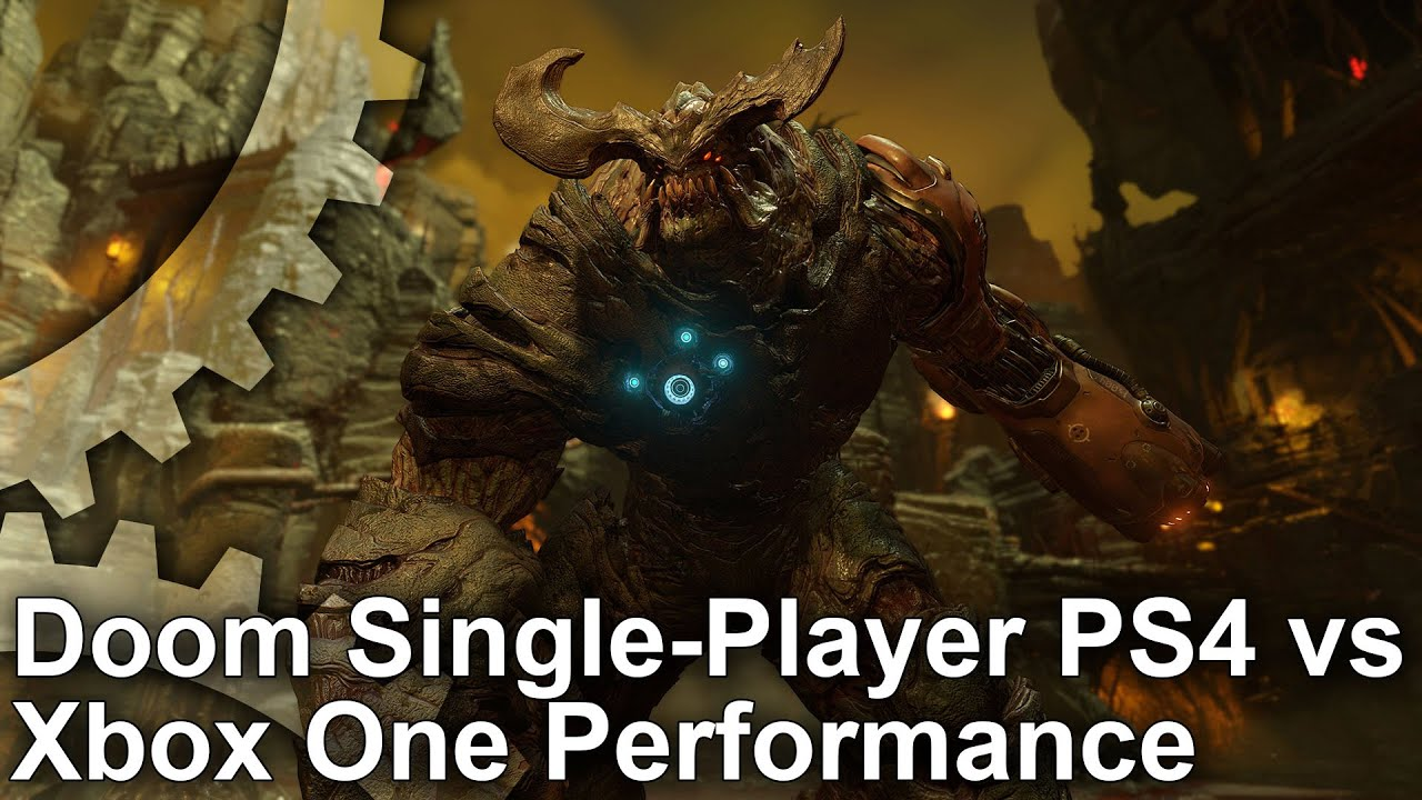 Doom PS4 vs Xbox One Single-Player Gameplay Frame-Rate Test