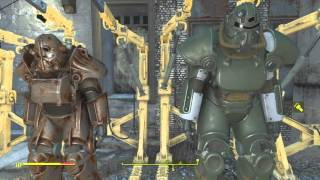 20 Power Armor Suits Fallout 4 X-01 T-45 T-51 T-60 With Hot Rod Paints Legendary and Rare Suits
