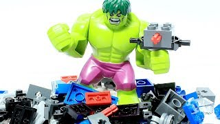 HULK Brick Building Toy Locomotive TRAIN Animation