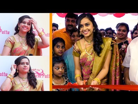 Actress Sri Divya Launches Sri Kanchi Pattu Showroom at Kanchipuram | TimesOfCinema TV