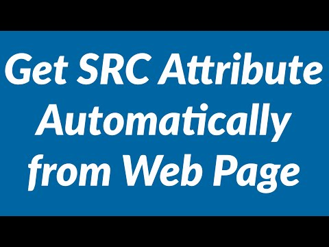 Get src attribute automatically from img tag in web page with vba