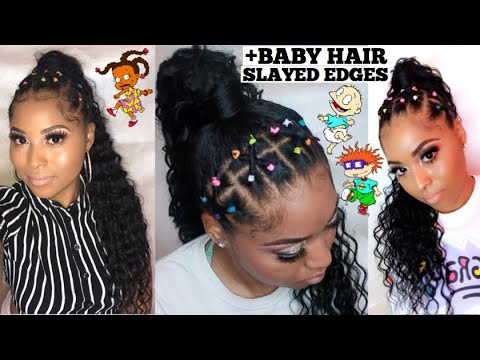 Rubber Band Method Slayed Edges Easy Natural Hairstyle For Back