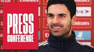 Saliba, Ozil, Balogun, Partey's fitness, Emirates FA Cup | Mikel Arteta | Press Conference