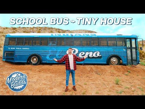 DIY SCHOOL BUS TINY HOUSE CONVERSION EP.1 | MODERN BUILDS