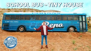 Diy School Bus Tiny House Conversion Ep. 1 | Modern Builds