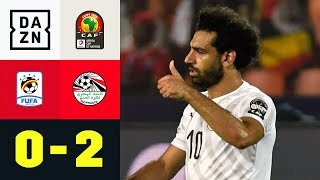 Mohamed Salah schießt den Gastgeber in das Achtelfinale: Uganda - Ägypten 0:2 | Afrika Cup | DAZN