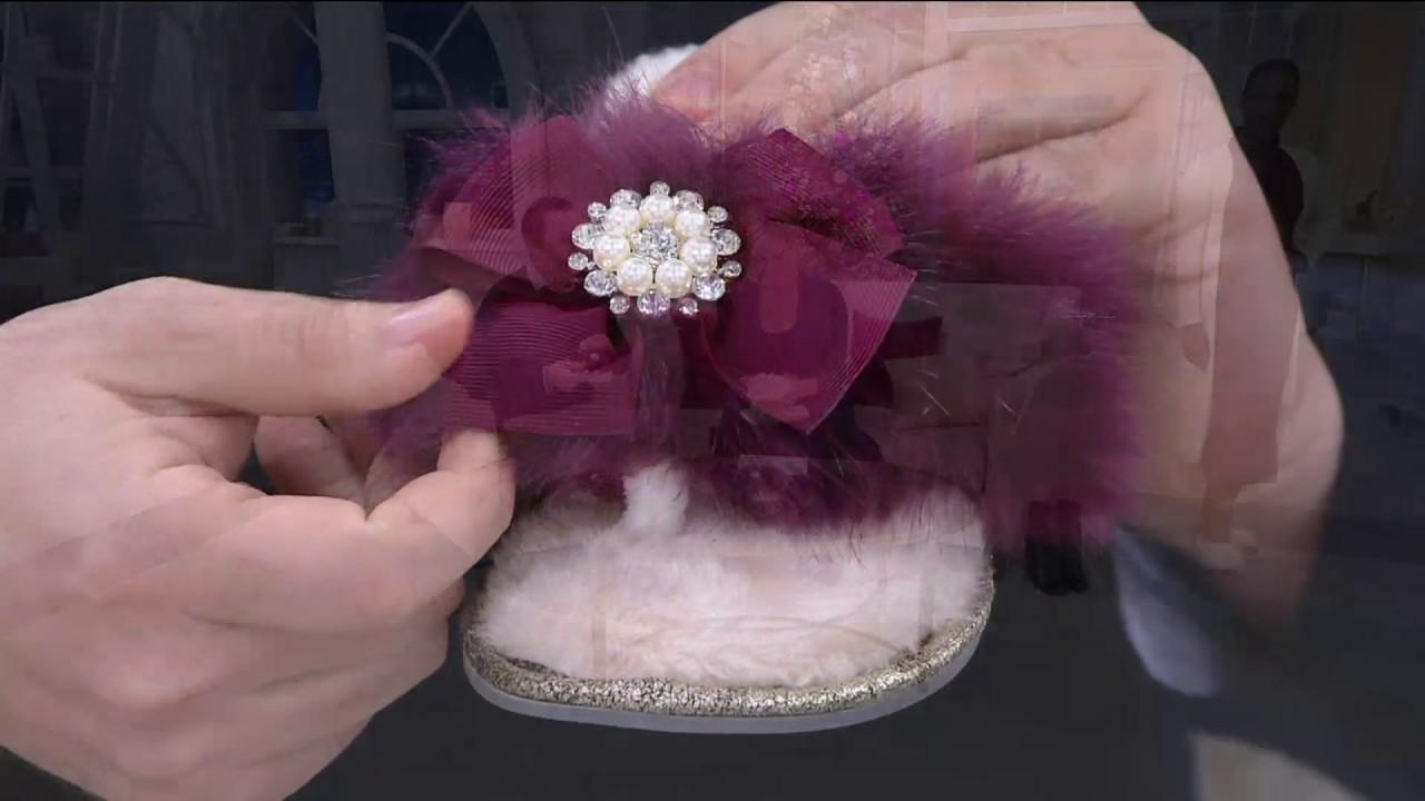 f1cf2521ca9d Pretty You London Jennifer Flip Flop Slippers on QVC - YouTube