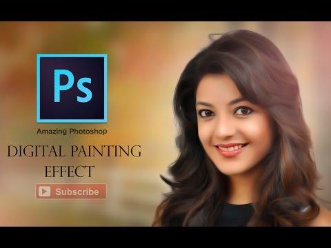 Photoshop CC Tutorial - Digital Painting Effect