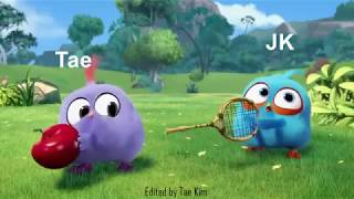 BTS as angry birds blues EP1