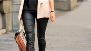 Blazer outfits ideas with distressed jeans