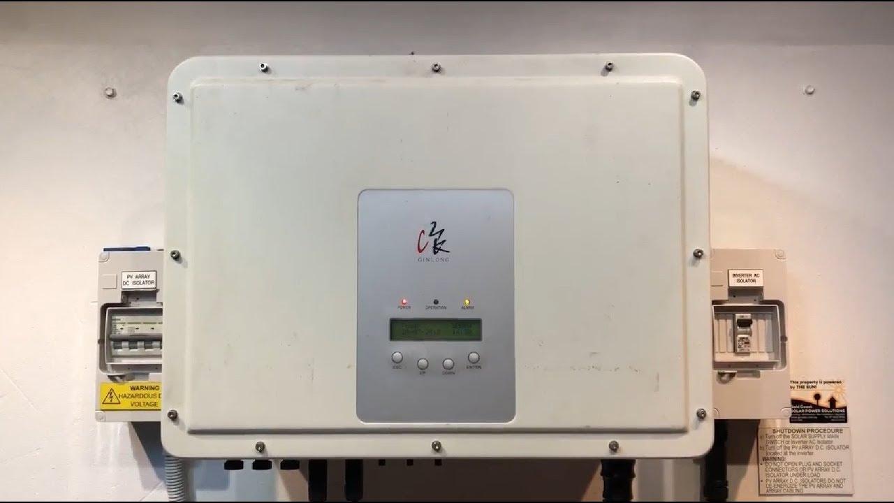 Ginlong / Solis / EKO Solar Inverter OV Bus Error Message