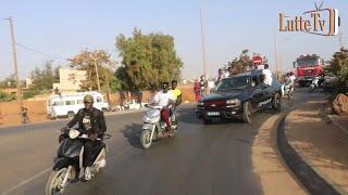 Siteu accompagné par les Tarkindas au stadium Marius Ndiaye pour faire...