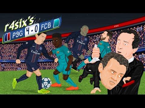 Parodia animada del PSG 4-0 Barcelona de Champions League 14/2/2017