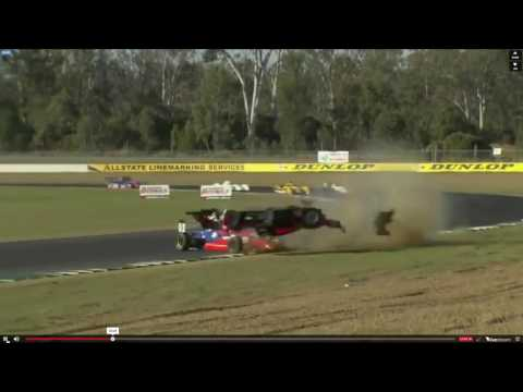 Sports Racer flips at Queensland Raceway