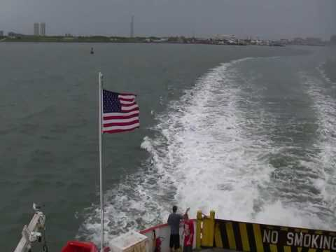 Galveston Texas On Ferry Dolphins Playing