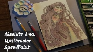 Watercolor Speed Paint|| Bad Vibes || Absolute Ama