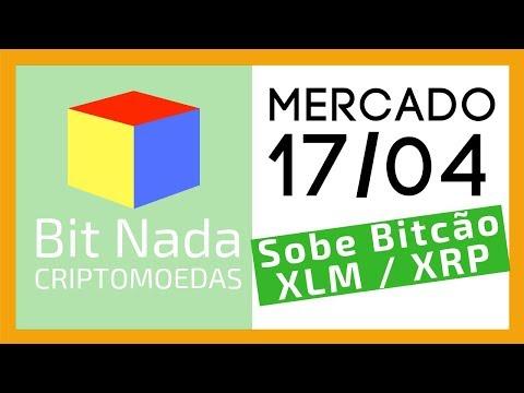 Mercado de Cripto! 17/04 Bitcoin sobe 3% / XLM / XRP