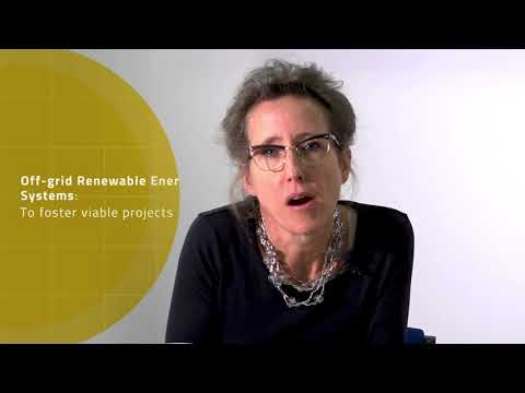 Laura Williamson: Off-grid renewable energy systems to foster viable projects