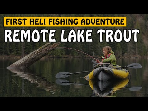 CUTTHROAT TROUT FISHING AT A REMOTE LAKE IN BC! First Heli Fishing Adventure! | Fishing With Rod