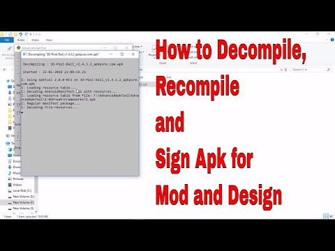 How to Setup and Decompile, Recompile, Sign APK Using