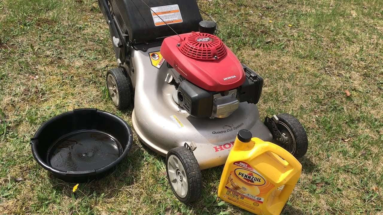 Changing Oil On Honda Push Mower