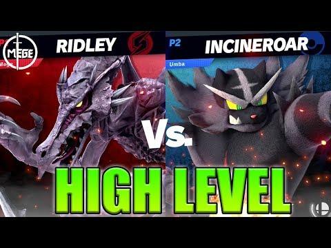 Ridley (Mege) VS Incineroar (Umba) - High Level Gameplay
