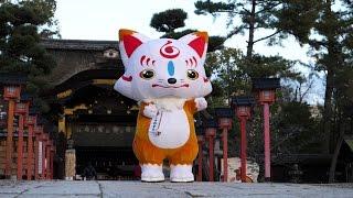 豊國神社で刀剣乱舞のキャラクター「こんのすけ」に出会えました ゆるキ...