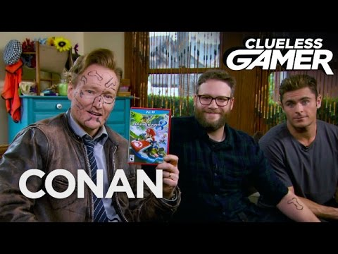 "Clueless Gamer: ""Mario Kart 8"" With Seth Rogen & Zac Efron  - CONAN on TBS"