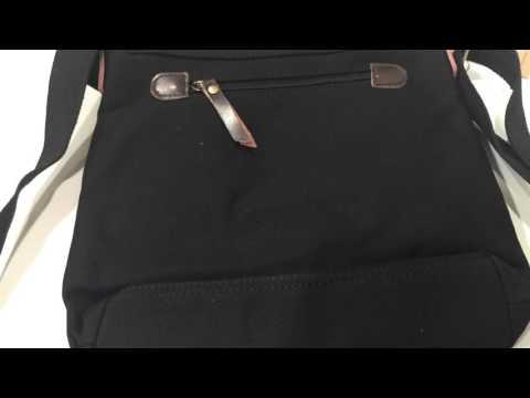 Small Vintage Cotton Canvas Messenger Bag Ipad Bag