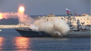 Full HD the failed rocket launch in Sevastopol