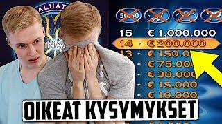 Kokeiltiin Haluatko miljonääriksi? -nettivisaa.. feat. Miklu