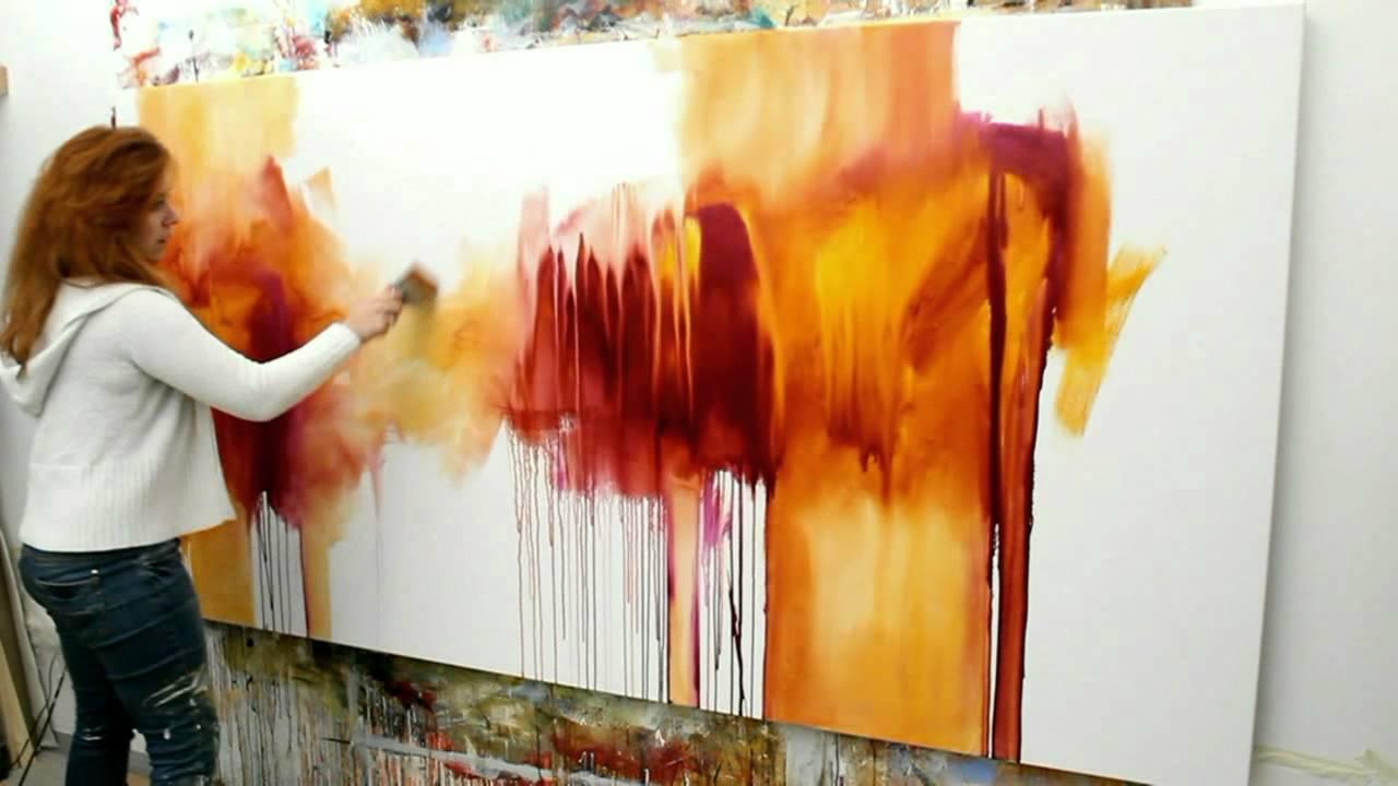Acrylmalerei Abstract Acrylic Painting Abstraktes Bild Malen Wild