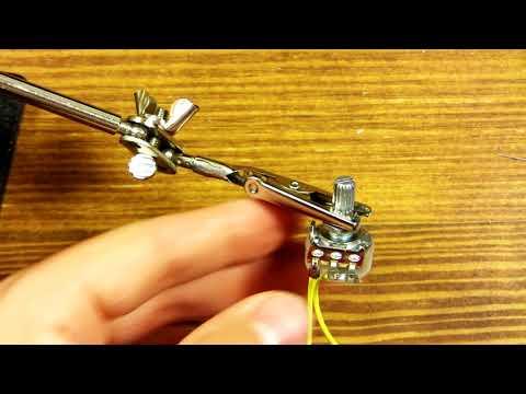 Mklec Guitar Effects Pedal Kit Build Tutorial - Soldering Potentiometers