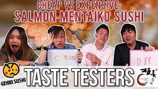 CHEAP VS EXPENSIVE SALMON MENTAIKO SUSHI | Taste Testers | EP 48