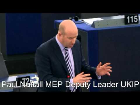 Paul Nuttall-Our Money Used For EU Propaganda