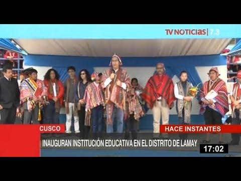 Presidente Vizcarra inaugura I.E. en Lamay y se compromete a trabajar por la educación