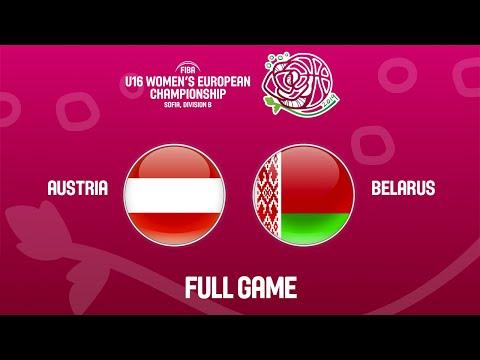 Austria V Belarus - Full Game - FIBA U16 Women's European Championship Division B 2019