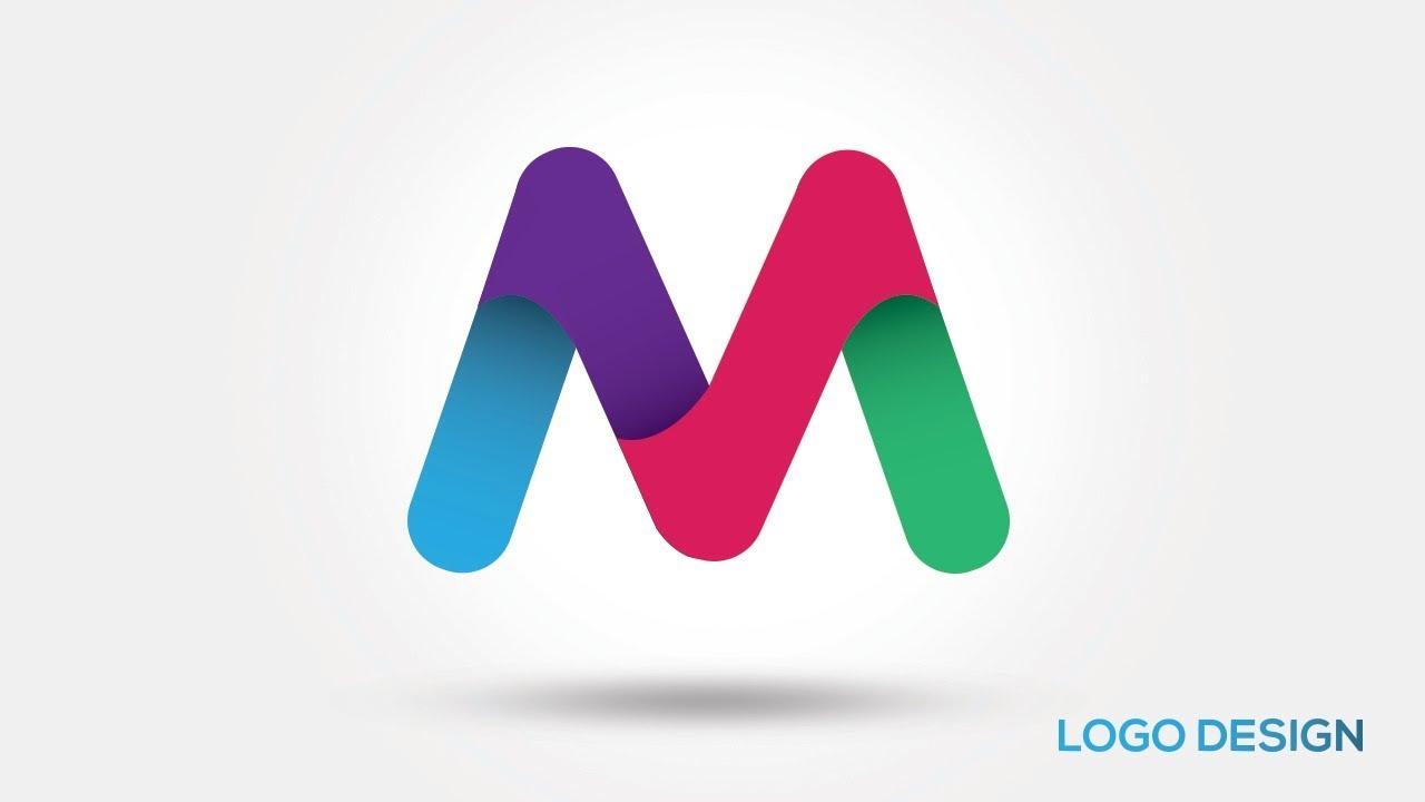 illustrator tutorial 3d logo design lettre m youtube