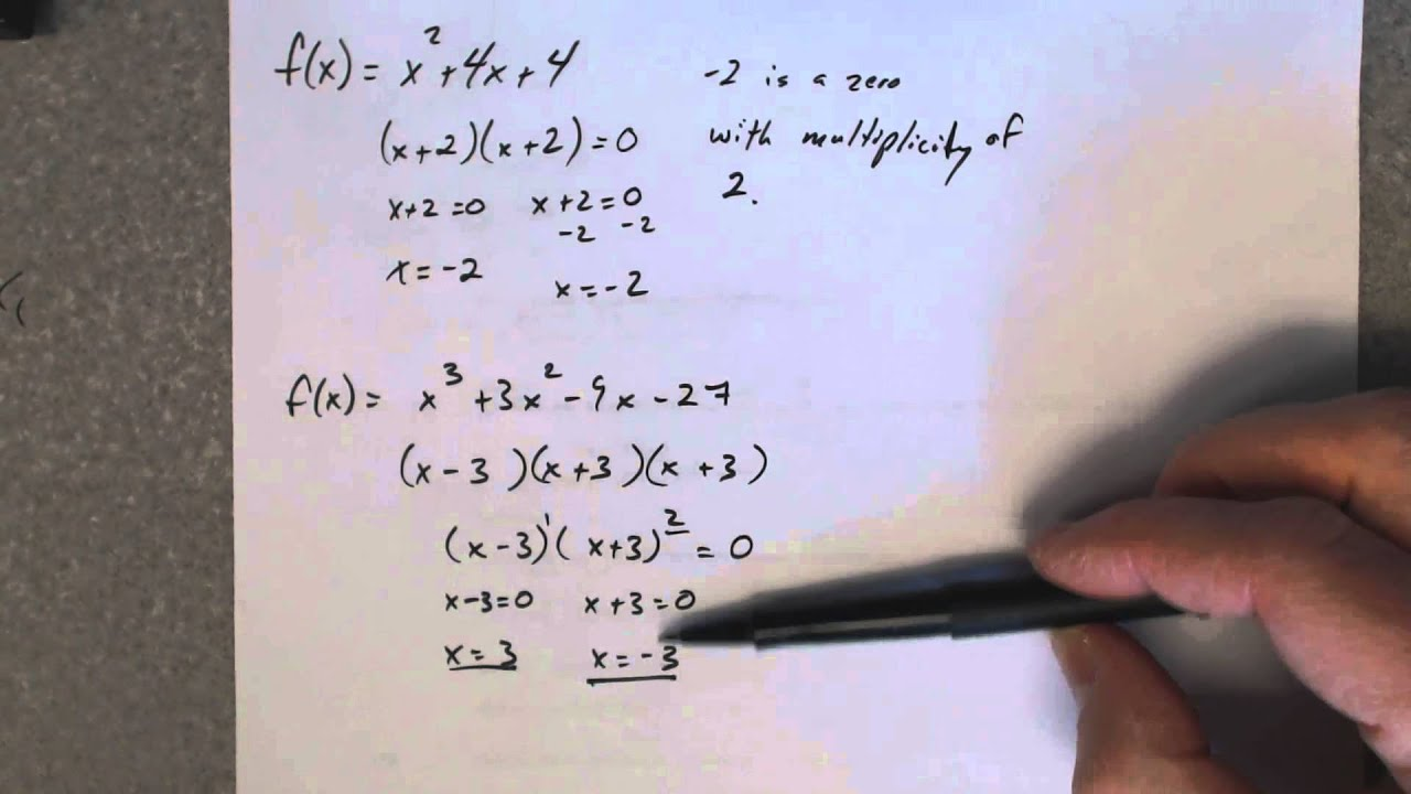 Find a polynomial function given the degree and its zeros with multiplicities.