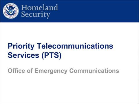 Webinar: Priority Telecommunications Services (PTS)