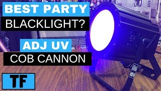 Best Black Light For Parties and Dances? | ADJ UV Cob Cannon Review and Glow Dance Setup