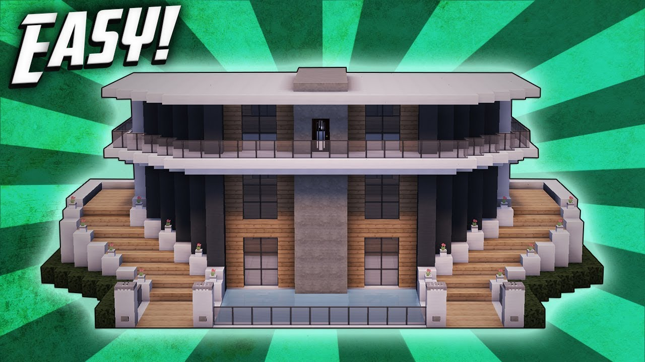 Minecraft: How To Build A Modern Mansion House Tutorial (#23)