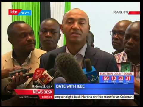 Peter Kenneth addresses the media after being cleared to run for Nairobi gubernatorial seat
