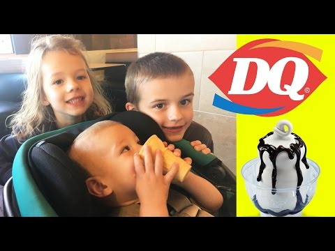 Dairy Queen With The Kids + I HURT MY BACK