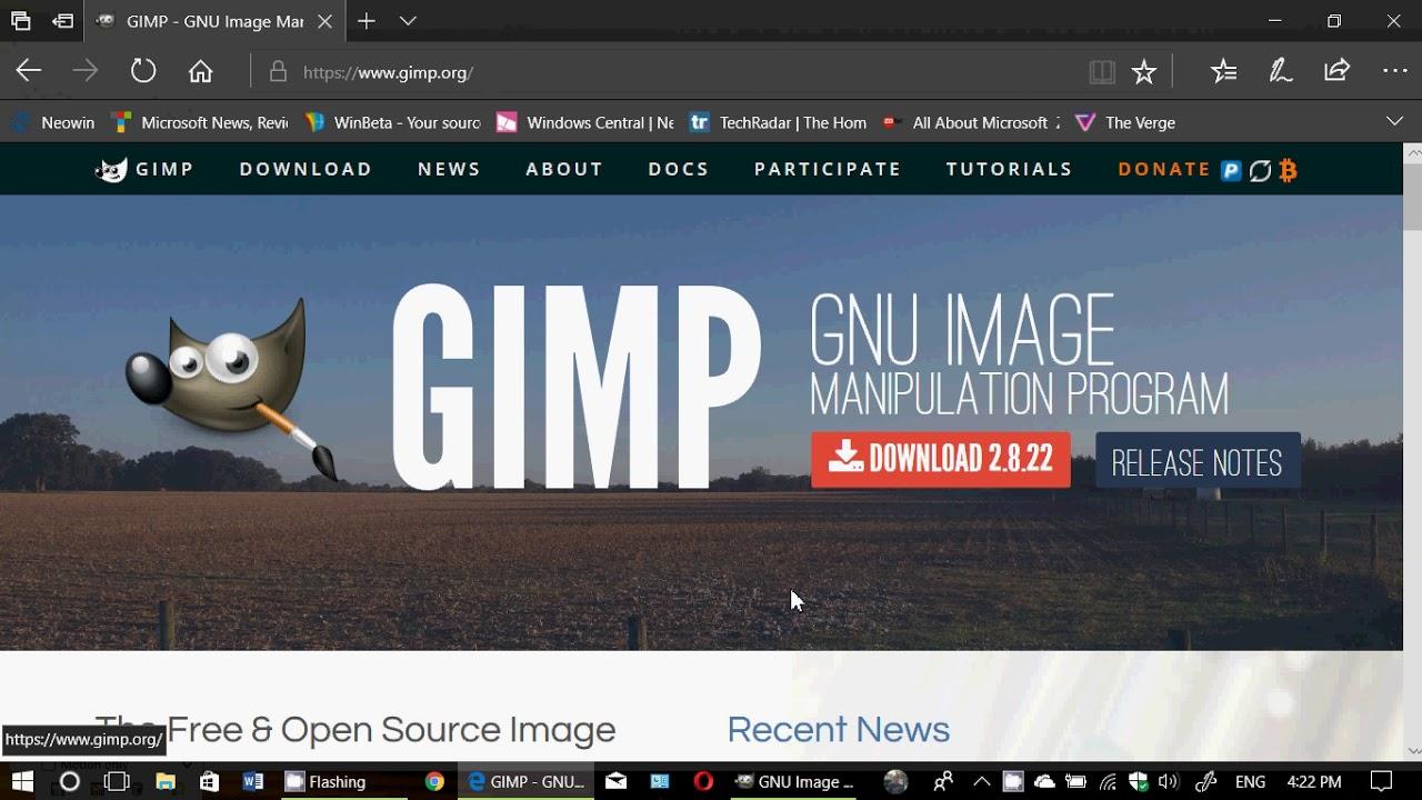 Free Photoshop Equivalent Gimp Is A Open Source Amazing