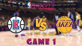 Los Angeles Clippers vs. Los Angeles Lakers - Game 1 - Conf. Finals - 2020 NBA Playoffs! - NBA 2K20